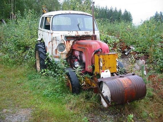 Homemade Garden Tractors >> BBT nv // Blog » I want a Porsche tractor… and a VW crewcab…