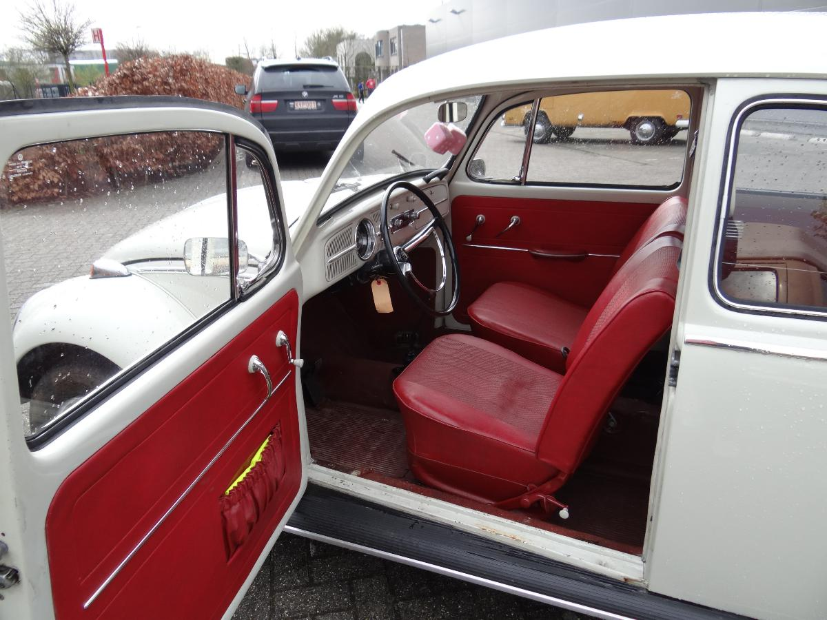 ... » For sale! 1965 Pearl white beetle with all original red interior Vw Beetle 2014 Interior